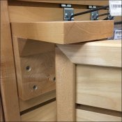 Swing-Out Wood Slatwall Extender Pivots