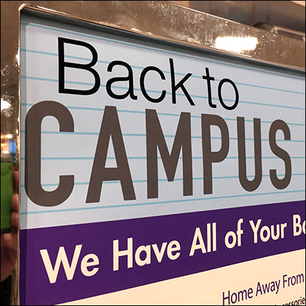 Back-To-Campus Checklist Table Sign