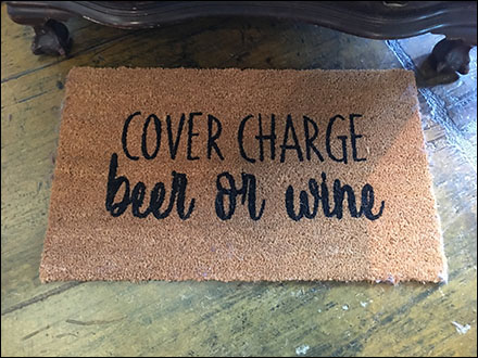 Beer-or-Wine Cover-Charge Welcome Mat