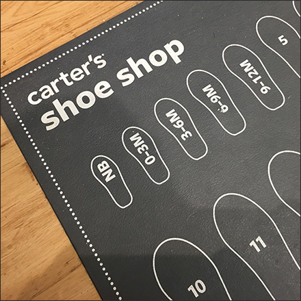 Shoe-Shop Shoe-Size Floor Graphic
