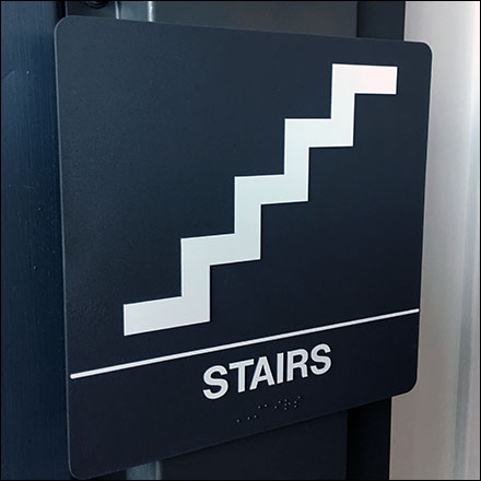Science-Center Stair Identification Sign