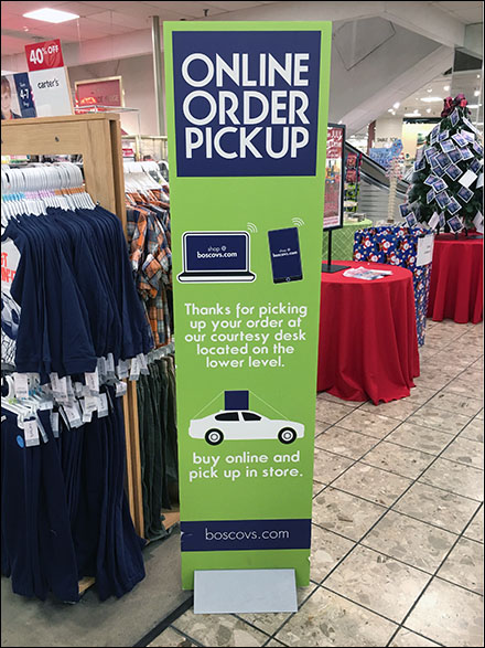 Boscov's Department Store Order-Pickup Navigation