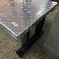 Diamond Plate Bench Seating Feature