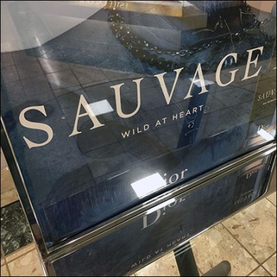 Dior Sauvage Perfume Table-Top Drama