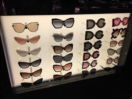 Dolce-&-Gabbana Sunglass Wall Display