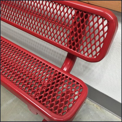 Expanded Metal Bench Luxe-Dip-Finish