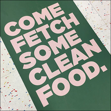 Fetch-Clean-Pet-Food Floor Graphic