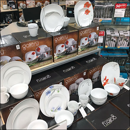 Gallery Tableware Set Island Display