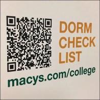 Macys Dorm Checklist QR-Code Access