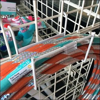 Outdoor Hula Hoop Hanger Merchandising