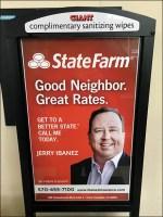 Sanitizer-Wipe Neighborly Advertising In-Store