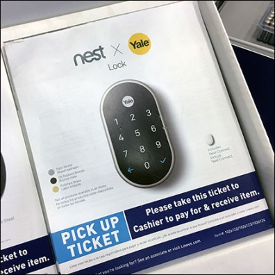 Nest Home Automation Pick Card Purchase