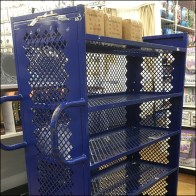 Perforated Metal Stocking Cart Feature