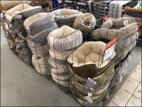 Pet-Bed Vertical Bulk-Bin Merchandising