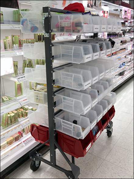 Returns Cart Sorting vs Stocking Cart Organization