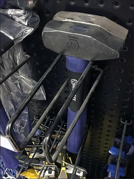 Sledge Hammer Perforated-Metal-Merchandising