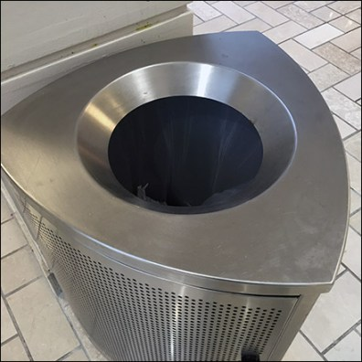 Tyson Mall Reuleaux Triangle Waste Receptacle