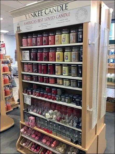 Beloved Yankee Candle Cupboard Display