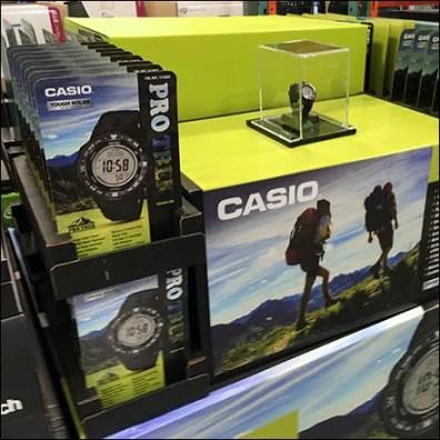Casio Pro-Trek Wristwatch Pallet Display