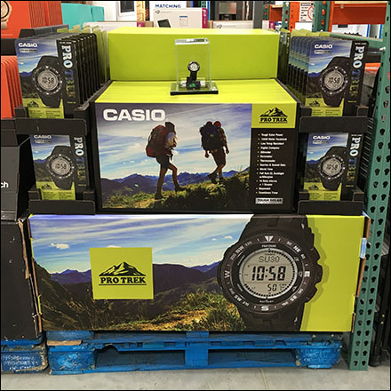 Casio Pro-Trek Wristwatch Pallet Display