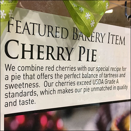 Cherry Pie Featured Bakery Promotion