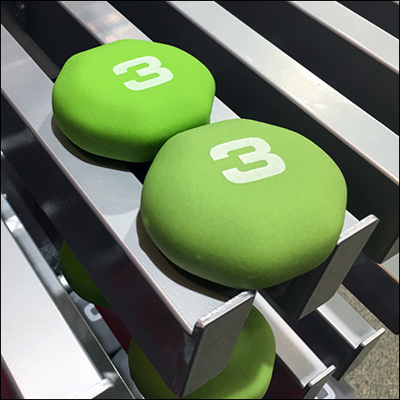 Color-Coded Dumbbell Faceout Details
