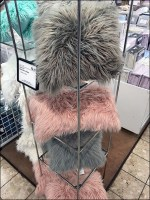 Faux Fur Pillow Tall Tower Display