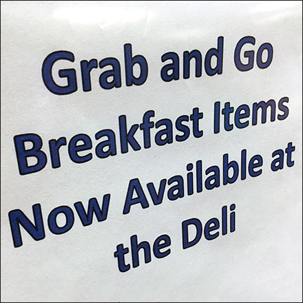 Grab-and-Go Breakfast A-Frame Sign