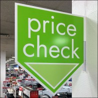 Green-to-Go Price Check Overhead Sign