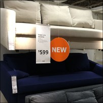 IKEA New Sleeper Sofas Float Display