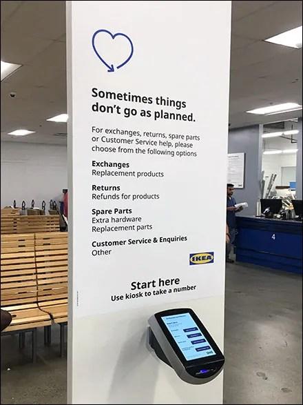 IKEA Returns-and-Exchanges Ticket Kiosk
