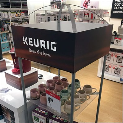 Keurig-Branded Cross-Sell Tower