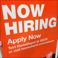 Now-Hiring Text Message Signage
