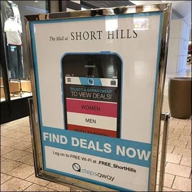 Short-Range Mall Mobile App Sign