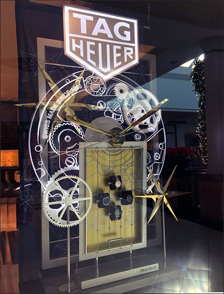 Tag-Heuer Clockwork Window Display