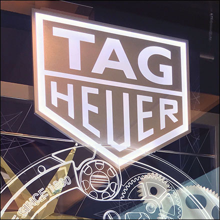 Tag-Heuer Clockwork Window Display