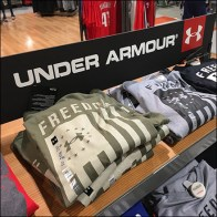 Under-Armour Branded Tiered-Shelf-Unit