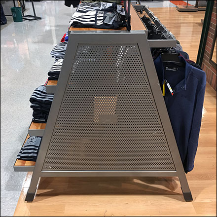 Under-Armour Perforated-Metal Trapezoid Display