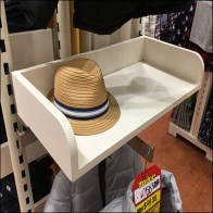 Upright-Mount Solid-Shelf Hat Merchandiser