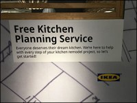 Wall-Size Free Kitchen Layout Planning