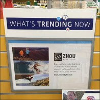 What's-Trending-Now In-Store Endcap Display