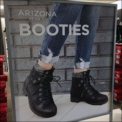 Arizona-Jean Booties Countertop Display
