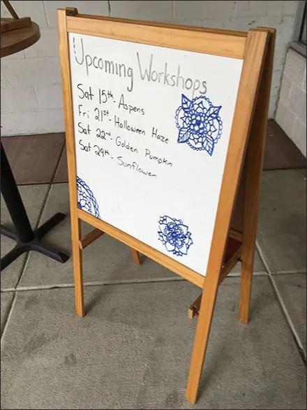 Art-Fusion Upcoming Workshops Easel