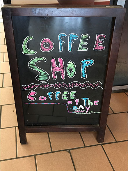 Coffee Shop Coffee-Of-The-Day Chalkboard Sign