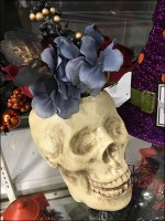 Halloween Floral Skull Fashion Statement