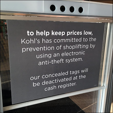 Kolh's Electronic Anti-Theft Warning Sign