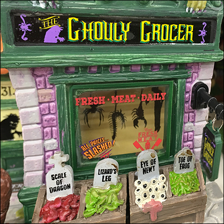 Lemax Ghouly-Grocer Halloween Merchandising
