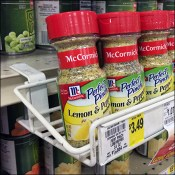 Lemon-And-Pepper C-Clamp Shelf-Edge Tray