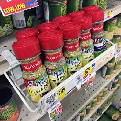 Lemon-And-Pepper C-Clamp Shelf-Edge Tray