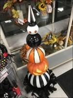Giant Halloween Pumpkin Chess-Piece Prop